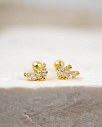 Gouden oorbellen 'So lovely' van Goud op Zilver